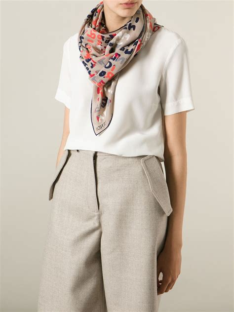 fendi roma print scarf lyst