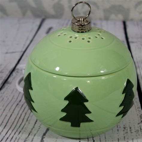 yankee candle ornament electric tart burner green