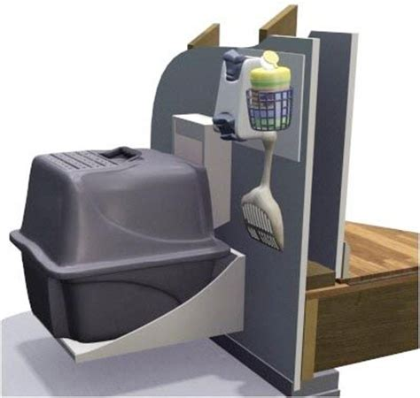 smart solution for an indoor cat the litter garage