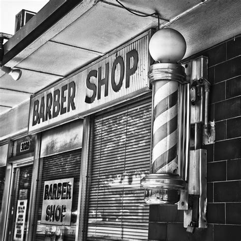 whitening shoo fox s barber shop black and white photograph by david waldo