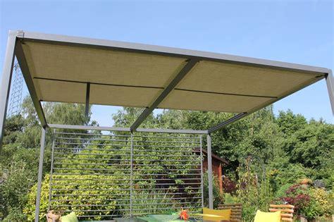 Pergola Dach Terrassenüberdachung by Garten Im Quadrat Moderne Pergola Stahl Grau 280 X