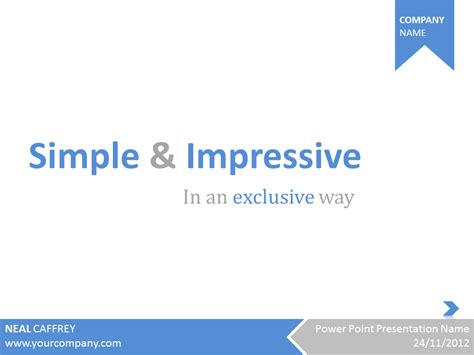Simple Business Powerpoint Templates simple impressive powerpoint template by pixelate design