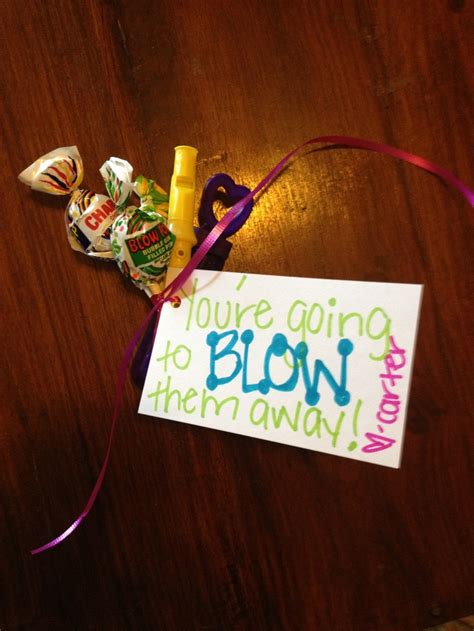 Gymnastics Crafts For Your Room - good luck gift blow pops mini player flute and bubbles craft ideas pinterest ice