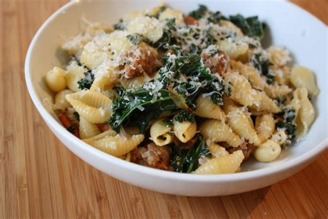 pasta sausage fettuccine with sausage and kale recipe dishmaps