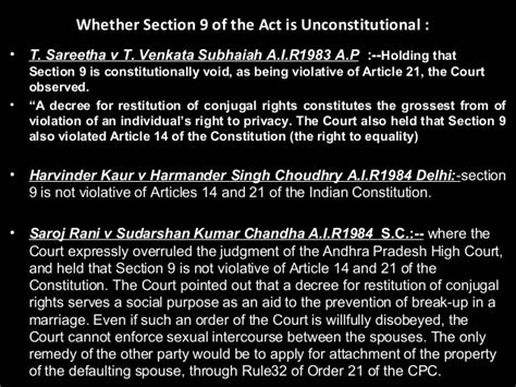restitution of conjugal rights section 9 ll b i fl u 1 sources of hindu law