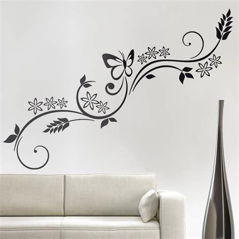 stencil fiori per pareti adesivi follia adesivi murali fiori