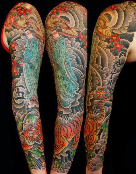 Ballard Designs Locations flowers geisha japanese sleeve tiger tattoo slave to the