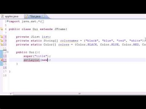 tutorial java compiler java programming tutorial 70 jlist youtube