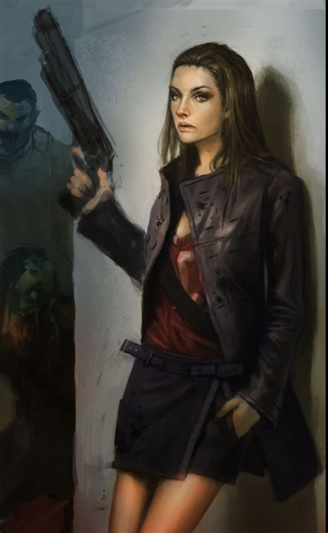 zombie hunter tutorial painting color over monochromatic sketch portrait step by step