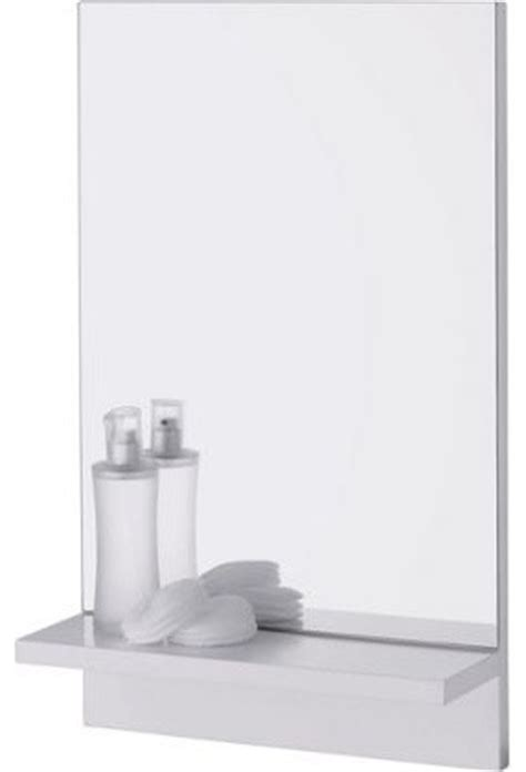 Wooden Bathroom Mirror With Shelf Rectangular Bathroom Mirror With Wooden Shelf Modern Bathroom Mirrors By Homebase