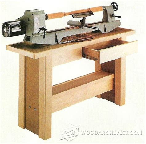 lathe bench plans lathe stand plans woodarchivist