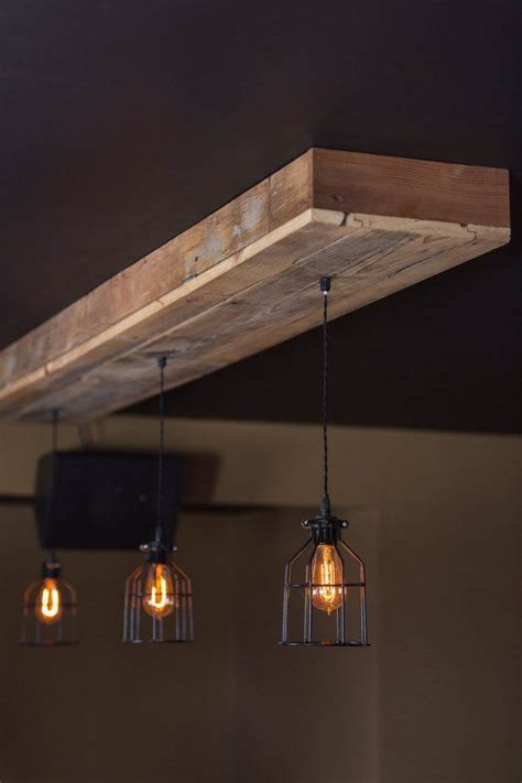 Reclaimed Wood Light Fixture by Reclaimed Barn Wood Light Fixtures Bar Restaurant Home