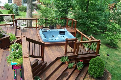 Patio Decks Designs Pictures Decks With Tubs The Outstanding Home Deck Design