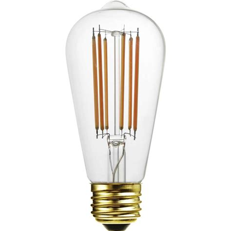St58 Led Light Bulb With Decorative Filament 15 Watts Led Light Bulbs Equivalent Wattage