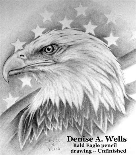 bald eagle and american flag tattoo design by denise a we