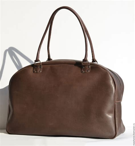 Handmade Leather Bags Accessories - large handmade bag of real thick leather no 002 travel