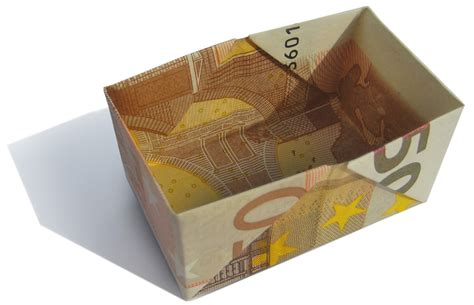 Money Origami Basket - paper money folding crafts