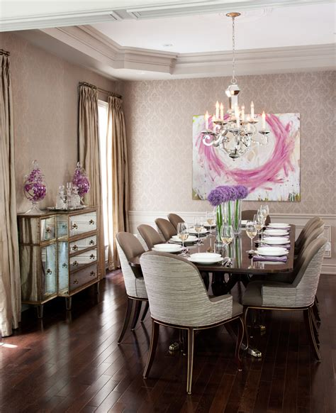 dining room decoration using dark brown and white retro decorating a buffet table in dining room dining room