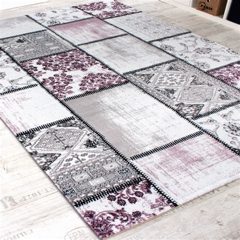 Patchwork Designer - edler designer teppich patchwork vintage look teppich