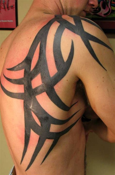 chest and shoulder tribal tattoos 52 most eye catching tribal tattoos