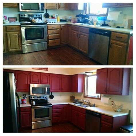 red kitchen cabinets with black glaze kitchen cabinet country re do dixie belle barn red with