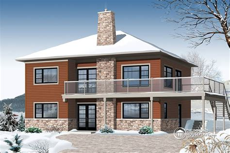 Modern Chalet House Plans by Contemporary Chalet Drummond House Plans