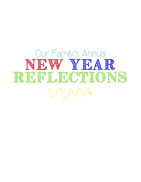 new year traditions pdf new year reflections family tradition