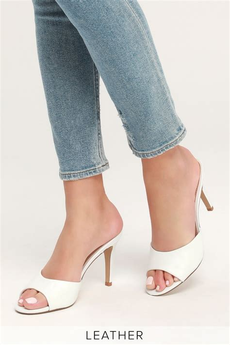 Steve Madden Erin Sandal by Steve Madden Erin White Leather High Heel Sandals Mod And Retro Clothing