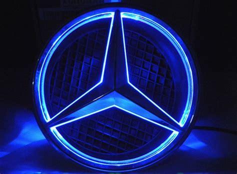 Mercedes Light Up Emblem by White Led Halo Kit Car Mercedes Center Emblem Badge Logo Grille Ac C E Cls Ebay