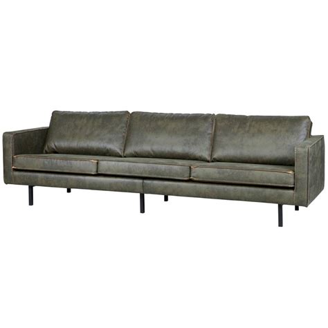 sofa military bepurehome 3 seater sofa rodeo army green leather