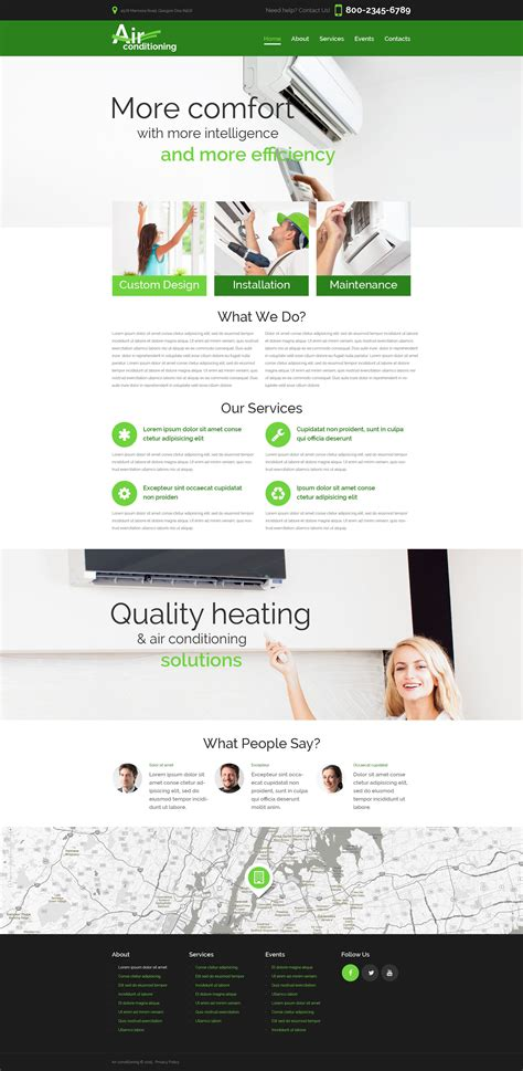 Heating And Air Conditioning Website Templates Heating Air Conditioning Co Website Template 52746