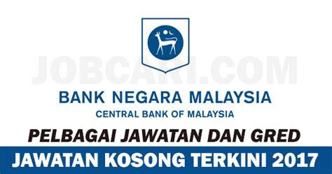 jawatan kosong terbaru di bank negara malaysia bnm