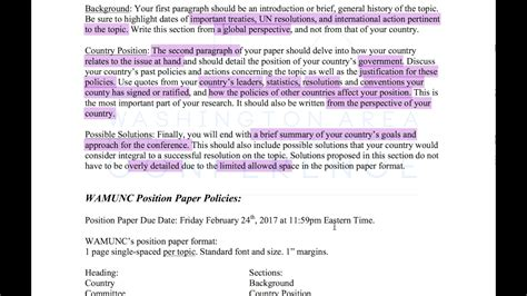 how to write position paper how to write position papers