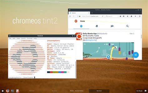 google chrome themes for ubuntu a minimal chrome os theme for tint2 omg ubuntu