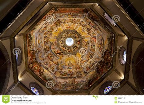 santa di fiore inside the dome of cattedrale di santa fiore