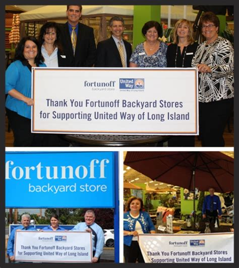 fortunoff backyard stores fortunoff backyard store contributes 20 000 to united