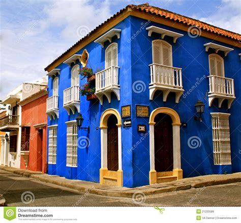 Spanish Colonial House Plans colorful street corner cartagena de indias royalty free