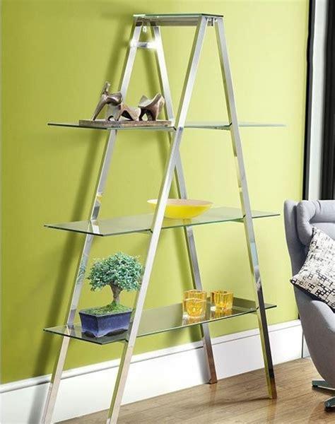 Glass Ladder Shelf by Glass Display Shelves Modern Furniture Book