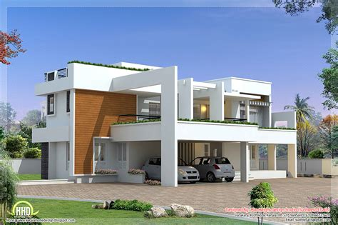 contemporary house plan sq feet modern contemporary villa square feet bedroom