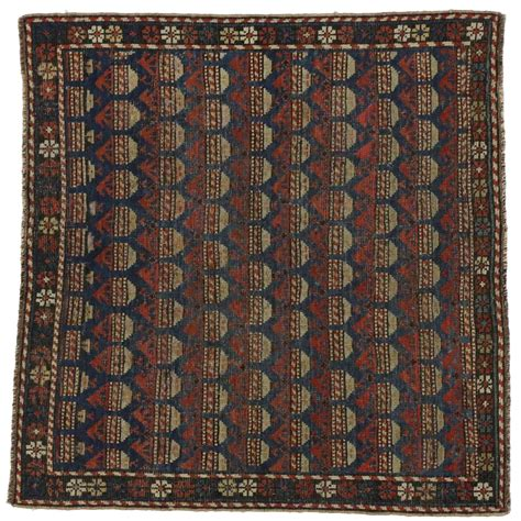 russian rug antique russian dagestan square rug with modern style for sale at 1stdibs