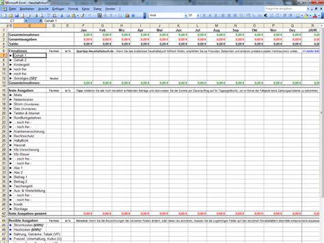 Kostenlose Vorlage Haushaltsplan Excel Haushaltsbuch Chip