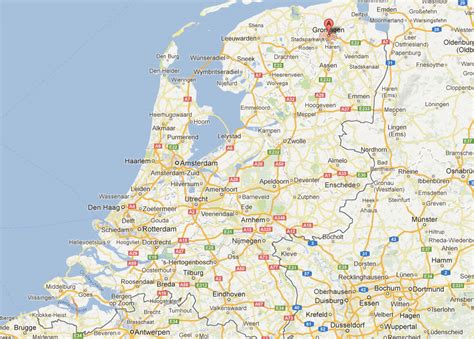 netherlands map groningen groningen map