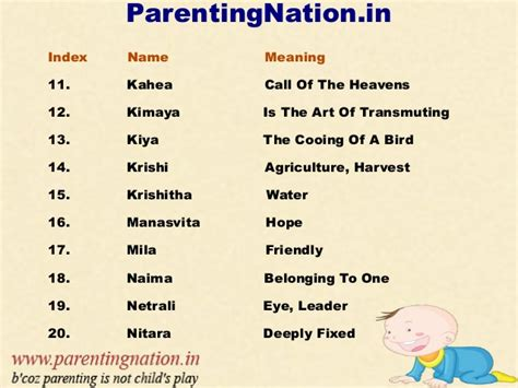 baby names and their meanings gallery unique names of