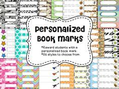printable bookmarks with names editable personalized bookmarks name plates rewards