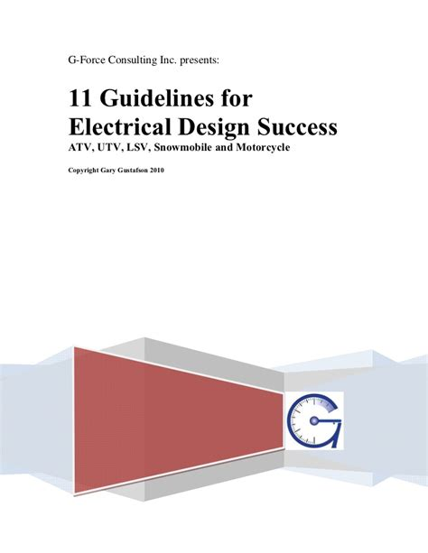 electrical design criteria document guidelines for powersports electrical design success