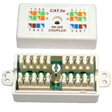cat 5e cat5 punchdown ethernet network cable coupler