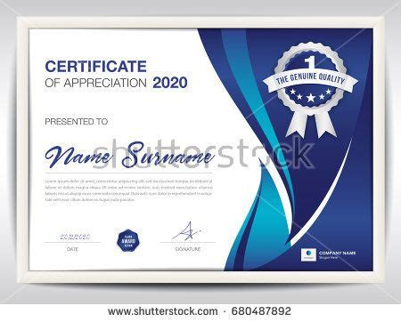layout for certificate of appreciation certificate template vector illustration diploma layout in