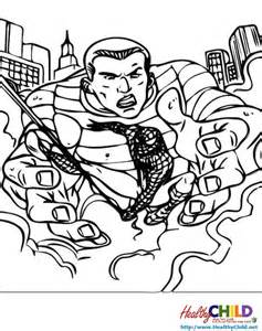 sandman spider man coloring pages