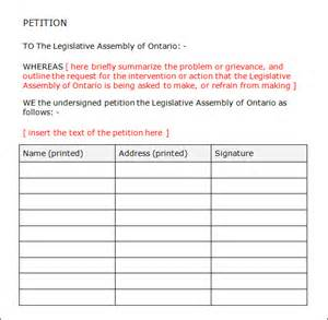 Templates To Print by Petition Template 23 Free Documents In Pdf Word