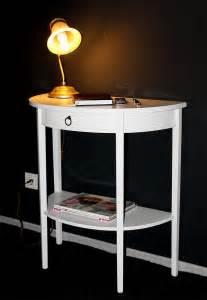 Telefontisch Holz by Konsolentische Konsole Halbrund Wei 223 Lackiert Bei Casa In